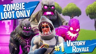 Download DOUBLE WINS with ONLY ZOMBIE LOOT in Fortnite!! Video