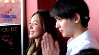 Download James Jirayu & Bella ranee Famous Thai actor arrived to Cambodia Phnom Penh Video