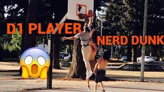 Download NERD PLAYS BASKETBALL PRANK!! D1 BASKETBALL PLAYER DRESSED AS NERD Video
