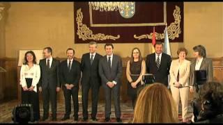 Download Alberto Núñez Feijóo presidiu a toma de posesión das novas conselleiras do Goberno galego Video