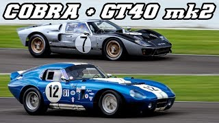 Download $4 million Shelby Cobra Daytona Coupe and Ford GT40 flat out at Spa 2013 Video