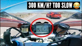 Download When SPORTBIKES meet SUPERCARS at 300 Km/H [Cars vs Motorcycles pt.1] Video