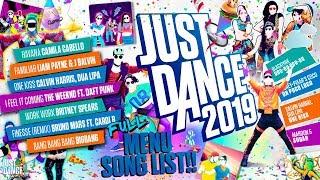 Download Just Dance 2019 Menu Song List!   Full Song List Video
