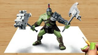 Download 3D Colored Pencil Drawing of Hulk Gladiator - Speed Draw | Jasmina Susak #Drawing #3D #3DDrawing Video