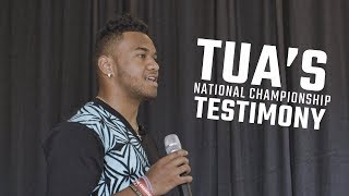 Download Watch Tua Tagovailoa explain the role prayer played in his National Championship performance Video