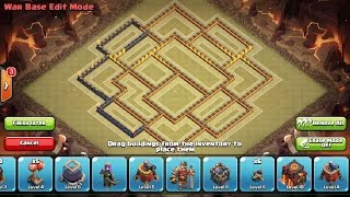 Download Best New War Base th9.5 275 Walls / Base Guerra cv9.5 Clash Of Clans Video