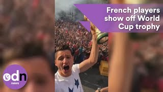 Download French players show off World Cup trophy Video