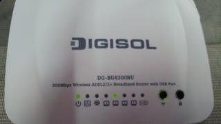 Download Digisol BG4300NU modem configuration Video