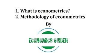 Download What is econometrics and the methodology of econometrics? Video