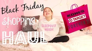 Download Black Friday Shopping Haul Annie goes to Target, Forever 21, Kohls Shopping for Clothes and Presents Video