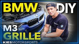Download BMW M3 Style Grill / Grille Install! How to remove and install a Grille on: F30, F10, F15, F25, F80 Video