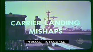 Download U.S. NAVY AIRCRAFT CARRIER LANDING MISHAPS & CRASHES Training Film 9002 Video