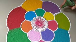 Download Very easy amazing beautiful creative Rangoli Design for diwali By Bucketful Creation Video