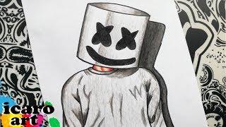 Download como dibujar a marshmello | how to draw marshmallow | como desenhar o dj marshmello Video