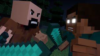 Download Notch vs Herobrine - Minecraft Fight Animation Video