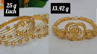 Download Latest Gold Bracelet Design with Weight Video