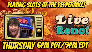 Download Live slot stream at The Peppermill Casino 9/22 Video
