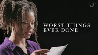 Download Reading The Worst Things People Have Ever Done Video