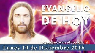 Download Evangelio de hoy Lunes 19 de Diciembre 2016 se cumplirán en su momento oportuno Video