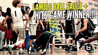 Download LaMelo Ball EXTRA SAUCY & Hits GAME WINNER w/ Lonzo & LiAngelo Watching!!! Video