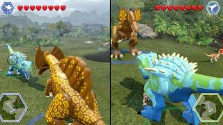 Download Lego Jurassic World - HYBRIDS BATTLE! ( Free Roam GamePlay ) Video
