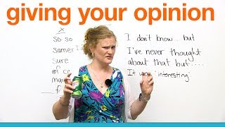 Download Conversation Skills - Giving your opinion Video