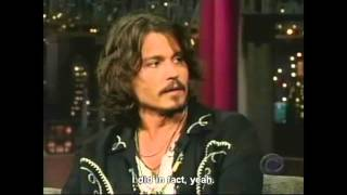 Download Letterman having a hard time with Johnny Depp (Eng Sub) Video