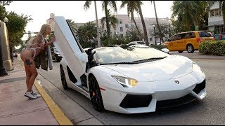 Download Picking Up Uber Riders In A Lamborghini Aventador! Video