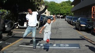 Download Jamaican Kid Trainer Challenges Usain Bolt to a Race! Video