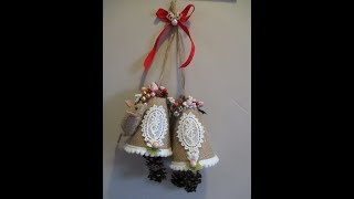 Download Easy Christmas Burlap Bells Tutorial - jennings644 Video