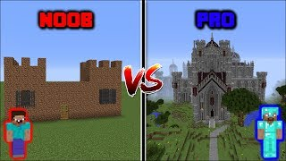 Download Minecraft NOOB VS PRO: CASTLE BUILD CHALLENGE in Minecraft Video