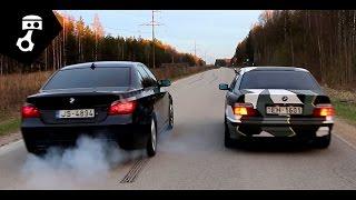Download BMW 344i M62b44 (E36) vs 535d (E60) Drag; zhmuraTV Video