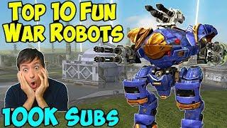Download Top 10 FUN War Robots 2018 & 100k Subscriber Special WR Gameplay Video