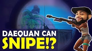 Download DAEQUAN SNIPING IS INSANE | CAN HE SNIPE?| BOP BOP | HIGH KILL FUNNY GAME- (Fortnite Battle Royale) Video