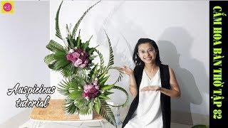 Download Cắm hoa bàn thờ tập 82|LẲNG HOA CÁT TƯỜNG 2 TẦNG |Auspicious flowers Video