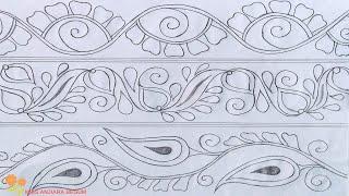 Download Nakshi kantha drawing design-44,How to Nokshi katha,নকশী কাথার ডিজাইন, नोक्षी कथा डिजाइन Video