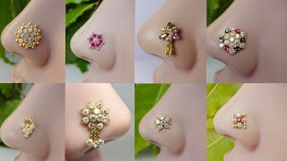 Download Latest Gold Nose Pin Stud Design 2018 | Traditional Nose Pin Stud Collection Video