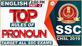 Download Top Rules of Pronoun | Part 2 | SSC CHSL Class 2019 | English | 2:00 PM Video