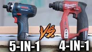 Download Milwaukee M12 FUEL Installation 4-1 VS Bosch 12V Max Flexiclick 5-In-1 - Best Modular Drill-Driver Video