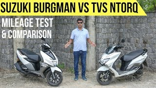 Download Suzuki Burgman Street 125 vs TVS NTorq Comparison | Mileage Test by Gaurav Yadav Video