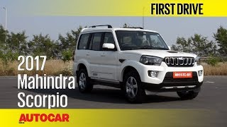 Download 2017 Mahindra Scorpio Facelift | First Drive | Autocar India Video