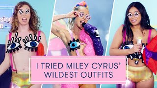 Download I Tried Miley Cyrus's Wildest Outfits | The Dressing Room Challenge Video
