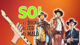 Download Música DEL LEJANO OESTE, versión fácil para flauta dulce+pista+guía. Animación. Tutorial. Video