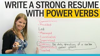 Download Get a better job: Power Verbs for Resume Writing Video