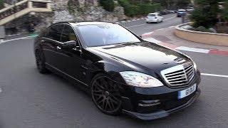 Download BRABUS B63 S63 AMG V8 BiTurbo - Exhaust SOUNDS in Monaco! Video