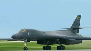 Download US bombers and fighters sent to fly near North Korea Video