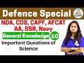 Download 4:00 PM - Defence Special General Knowledge by Shipra Ma'am |Day #10|Important Question of Science Video