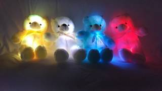 Download Led Light Up Glow Teddy Bear Pillow Video