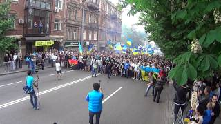 Download Совместный марш болельщиков Днепр Карпаты 04.05.2014 (1) Воины Света Video