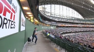 Download Snagging two foul balls during the game at Miller Park Video